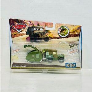 Disney Pixar Cars sarge & trailer